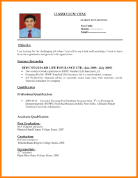 Free Download Resume Format For Job Application