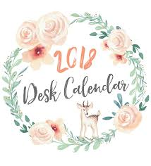 cute free printable 2018 calendar display on a wood stand clipboard photo frame