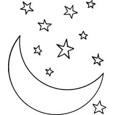 Small Picture Star and Moon Shape Coloring pages Free Polyvore