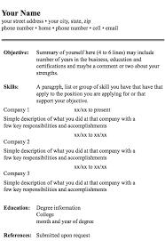 Resume Format- screenshot
