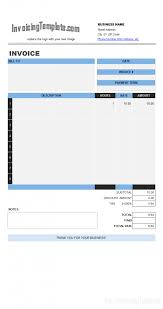 Invoice Template In Excel 2007 Free Download Design 793 X Saneme