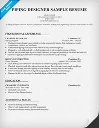 Designer Resume Templates Unique Piping Designer Resume Template Resumecompanion Resume