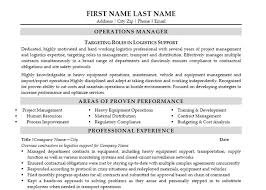 Operations Manager Resume Template Unique Transportation Operations Manager Resume Sample Best Format Kubre