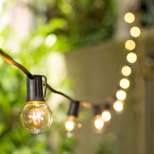 100 ft clear globe string lights 1 5 e17 bulbs black wire c9 strand outdoor