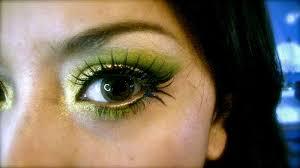 crazy for gold green makeup tutorial