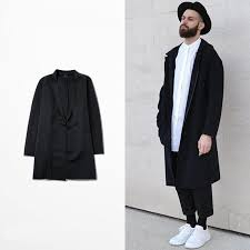 mens clothing fashion 2016 long trench coat men black autumn casual mens trenchcoat streetwear plus wild and sensual size m 4xl jacket mens jacket styles