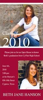 Print Graduation Announcement Graduation Announcement Printing Design Houston Print