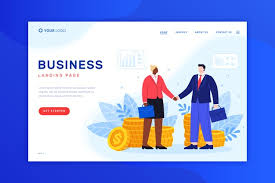 Business Landing Page Design For Template Vector Free Download