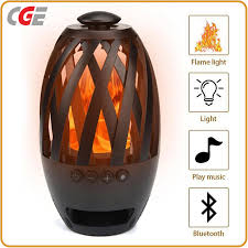 holiday light led flame lamp portable bluetooth speaker torch atmosphere flicker warm light led lamps bluetooth professional speaker