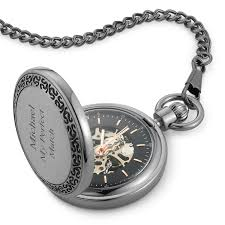 personalized mens jewelry at things remembered gunmetal skeleton pocket watch