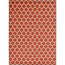 red orange area rugs trellis light terracotta 13 x 18 rug lodge handwoven flatweave wool redorange