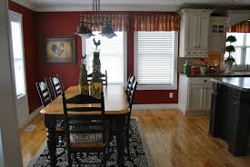 Kitchen Exciting Small Kitchen Decoration Using Red Paint For - Dining room red paint ideas