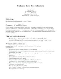 New Grad Resume Template Interesting Recent Graduate Nursing Resume Examples Mouldenco