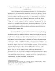 Douglass Mid Term Essay   History      Frederick Douglass Mid Term     Course Hero