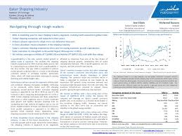 Clarksea Index Chart Qatar Shipping Industry Sector Note Including The Initiation