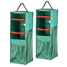 4 sided hanging gift wrap and bag organizer 2 pack