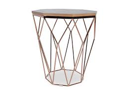gold end table. Hella Pink Gold End Table - TB3 Home