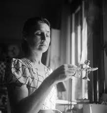 Photograph of Valentine Penrose in Eileen Agar's studio at Bramham Gardens,  London', Eileen Agar, [1930s–1950s] – Tate Archive   Tate