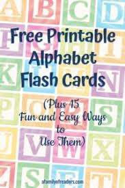 Large colorful alphabet flashcards for kindergarten & preschool! Free Printable Alphabet Flash Cards Plus 15 Fun And Easy Ways To Use Them A Family Of Readers