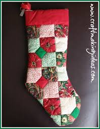 Small Patchwork Quilted Christmas Stocking | Christmas Gifts & Small Patchwork Quilted Christmas Stocking Adamdwight.com
