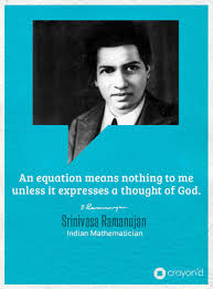 an equation means nothing to me unless it expresses a thought of   an equation means nothing to me unless it expresses a thought of god