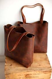 brown leather tote bag distressed brown leather travel by sord 215 00