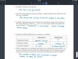 Hailey Calkins Chemistry 3 Gas Variables Pogil