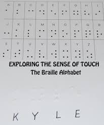 Braille Words Chart 5 Senses The Braille Alphabet In Preschool Kindergarten