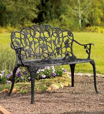 nice outdoor wrought iron bench garden benches to enhance your stylish concept 8