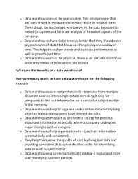 sample essay on data warehouse 2  data warehouses
