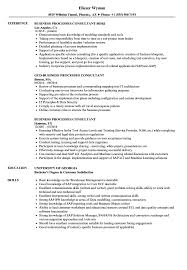 Business Processes Consultant Resume Samples Velvet Jobs