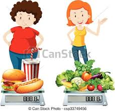 healthy food clipart. Beautiful Healthy Woman Eating Healthy And Unhealthy Food  Csp33749456 And Healthy Food Clipart E