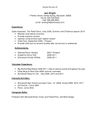 resumes sample for high school students sample high school resume template examples for students in the same