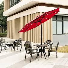 ainfox 9ft solar patio umbrella with