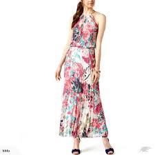 Msk Dresses Size Chart Msk Womens Pleated Halter Evening Dress