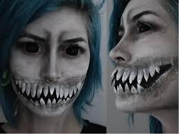 sharp halloween teeth. creepy monster teeth halloween makeup tutorial with latex and fake nails   krispuuh - youtube sharp n