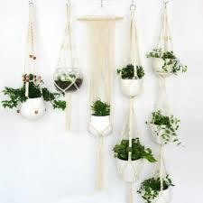 5 piece set macrame plant hanger flower