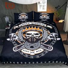 skull comforter set mechanical skull bedding set gears printed boys duvet cover set black bedclothes hell riders pink skull comforter set