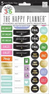 College Academic Planners School College Planner Stickers Me My Big Ideas