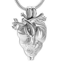 anatomical heart urn cremation jewelry in pendant necklace for ashes holder necklaces cremation keepsake memorial locket