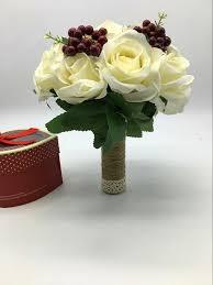New Arrival Wedding Bouquet Handmade Flowers Ivory With Purple Grape Decoration Bridal Bouquet Wedding Bouquets