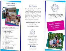 Sample Preschool Brochure Play School Brochure Templates The Best Templates Collection 5