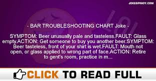 Funny Troubleshooting Chart Bar Troubleshooting Chart Joke Jokespinoy Com