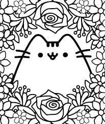 Pusheen Coloring Pages Mermaid Betterfor