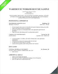 Warehouse Resume Format New Sample Resume Warehouse Supervisor Job Objectives What To Put In