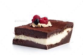 chocolate cake white background. Plain White Piece Of Chocolate Cake Isolated On White Background Stock Photo By  Photocreo With Chocolate Cake White Background E