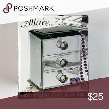 mirror jewelry box 3 drawer jewelry