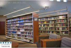led lights on static and mobile bookstacks are easy to install