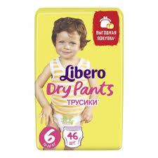 <b>Подгузники</b>-<b>трусики Libero Dry</b> Pants Size 6 (13-20кг), 46 шт ...