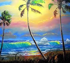 glowing beach